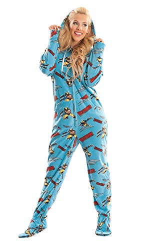 Wolverine Marvel Blue Unisex Adult Footed Onesie Pajamas for Men and Women -