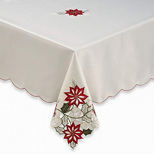 Amazon Com Poinsettia Path Bb B Fabric Tablecloth Cutout Flower