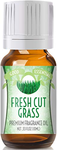 Fresh Cut Grass Scented Oil by Good Essential (Premium Grade Fragrance Oil) - Perfect for Aromatherapy, Soaps, Candles, Slime, Lotions, and More! ()