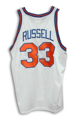 Cazzie Russell New York Knicks Autographed White Throwback Jersey Inscribed