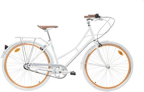 Fabric City Bicicleta de Paseo- Bicicleta de Mujer, Cambio Interno Shimano 3V, 5 Colores, 14kg (White Whitechapel, 45): Amazon.es: Deportes y aire libre
