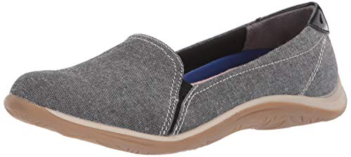 Dr. Scholl's Women's Keystone Loafer Black Chambray/Patent 8 M -