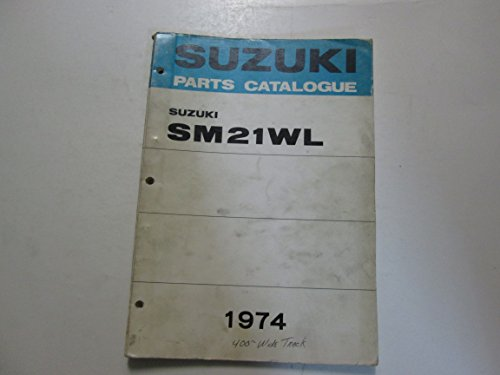 1974 Suzuki Snowmobile SM21WL Parts Catalog Manual STAINED WORN**