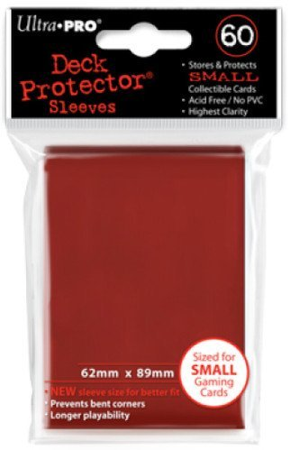 Ultra Pro Sleeves Small 60 D10 Card Game (Red)