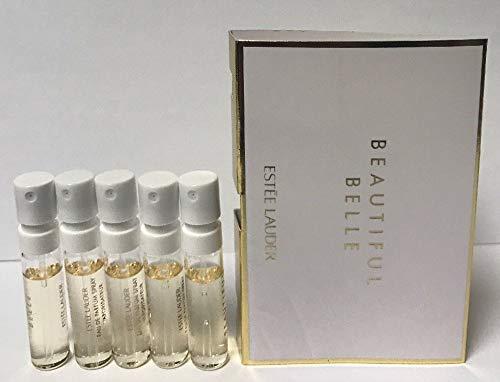 5 Estee Lauder Beautiful Belle Eau De Parfum Women Spray Sample Vial 0.05 oz/1.5 ml