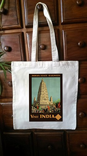 Cotton Tote Bag shopper vintage travel posters No.4 ()