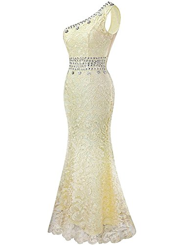 Shoulder Abendkleider Formelle One Kleider Ball White Damen Green Fanciest Kleider Meerjungfrau Spitzen RnxFBEwq08