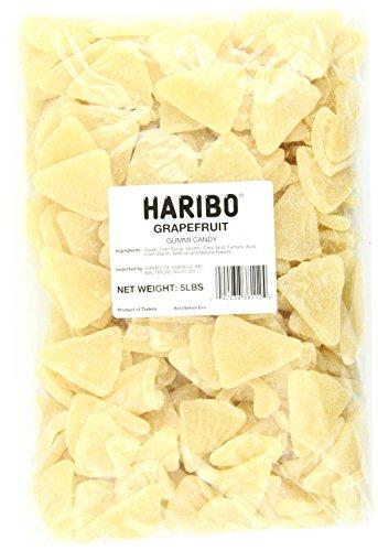 Haribo White Grapefruit Gummi candy bulk (5Lb)