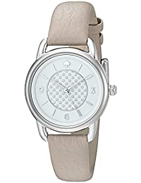 Kate Spade New York Women's 'Boathouse' Quartz Stainless Steel and Leather Casual Watch, Color:Grey (Model: KSW1163)