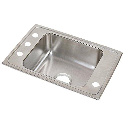 Elkay Lustertone DRKAD2517602LM Single Bowl Top Mount Stainless Steel Classroom ADA Sink - Elkay Single Bowl Classroom Sink