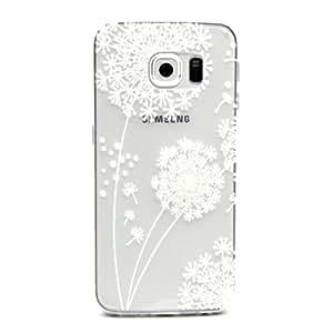 case cover para Samsung Galaxy S6 Edge G9250,Crisant Diente de león blanco Diseño Protección suave TPU Gel silicona Teléfono Celular Back funda Carcasa para Samsung Galaxy S6 Edge G9250