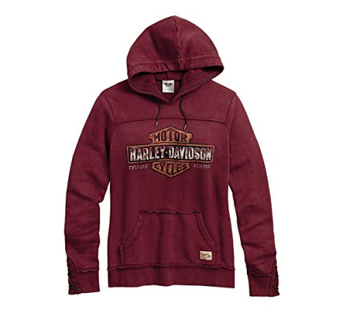 Harley-Davidson Official Women s Genuine Pullover Hoodie, Burgundy (Large) ccc876c0c8