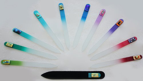 Oh My Gosh ! Dichroic Czech Art Glass Nail File (Sold Individually)