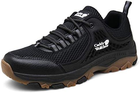 屋外のクライミングクライミング岩を歩くためのトレーナーアンチ軽量のシューズスニーカースリップ適したメンズハイキングシューズ快適な靴 (Color : Black and White, Size : 6.0UK)