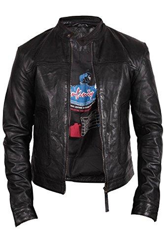 diseñador chaqueta motorista hombre de Bombardero Para del del la capa del cuero Brandslock xR4UqwC