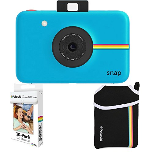 Polaroid Snap Instant Camera + 2×3 Zink Paper (30 Pack) + Neoprene Pouch