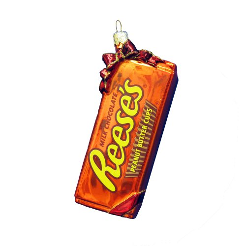 Hershey Kurt Adler Glass Reese's Ornament, 5-Inch (5 Piece Christmas Ornament)