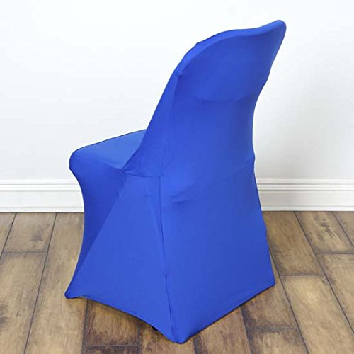 Efavormart 50pcs SLEEK Spandex Folding Chair Cover For Wedding Event Party - Royal Blue