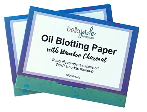Oil Blotting Paper Sheets – Instantly Absorbs Excess Oil and Shine from Face without Smudging Makeup – Large size, 200…