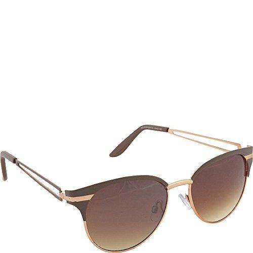 Jessica Simpson Women's J5402 ND Non-Polarized Iridium Cateye Sunglasses, Nude, 55 mm