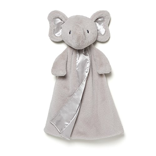 Gund Baby Bubbles Elephant Huggybuddy Blanket, Gray, 17
