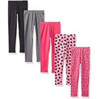 Spotted Zebra Girls' 5-Pack Leggings