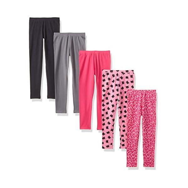 Amazon Brand Spotted Zebra Girls Toddler Kids 5 Pack Leggings