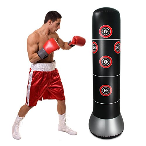 bouti1583 Inflatable Fitness Punching Bag Freestanding Boxing Target Bag 63 Inches ()