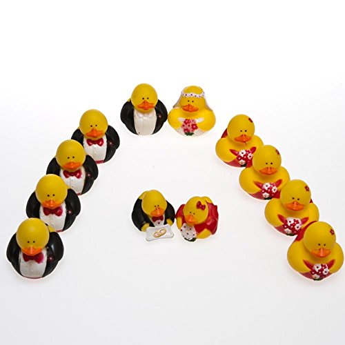 12 Wedding Party Rubber Ducks