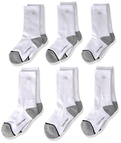 This 6pk crew ribbed leg Calvin Klein sock is a great athletic sock with the CK logo at the top. This sock has many great qualities such as: