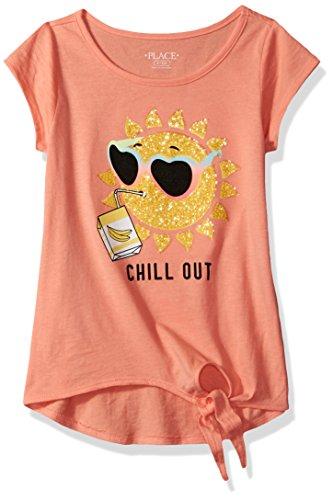 The Children's Place Big Girls' Short Sleeve T-Shirt, Desert Flower 80411, M (7/8)