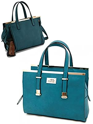 32330c85d53b Cora Concealed Carry Women's Purse Handbag in Teal for Self Defense