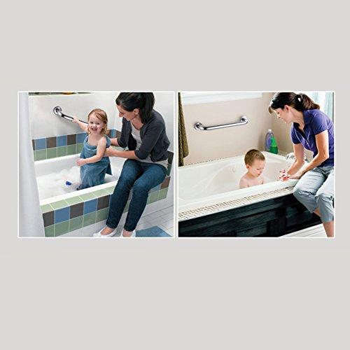 Yafeco Stainless Steel Shower Grab Bar - Shower Handle & Bathroom Balance Bar - Safety Hand Rail Support - Handicap, Elderly, Injury, Senior Assist Bath Handle, Non Skid (12 Inches) by Yafeco (Image #2)