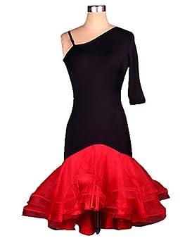 Vestido negro con estampado rojo