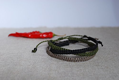 Set of 3 friendship bracelet - Macramé Bracelet - Handmade jewelry