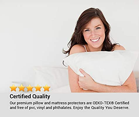 160 x 200 cm Bamboo Anti allergy Naturally Cooling Breathable and Non noisy for deep EU King bed Comfier Sleep Waterproof Mattress Protector EU King size