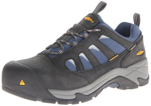 KEEN Utility Men's Lexington Composite Toe Work Shoe,Raven/Ensign Blue,13 2E US