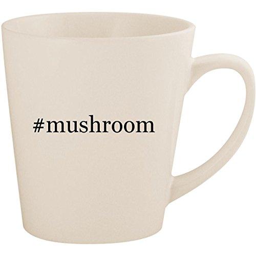 Pasta Mushroom Portabella (#mushroom - White Hashtag 12oz Ceramic Latte Mug Cup)