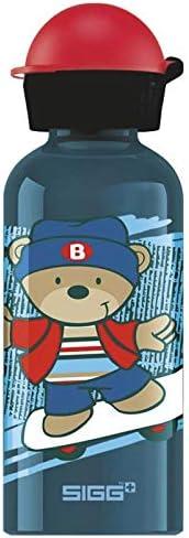 SIGG Skate Cantimplora infantil (0.4 L), botella para niños sin sustancias nocivas y con tapa hermética, cantimplora ligera de aluminio