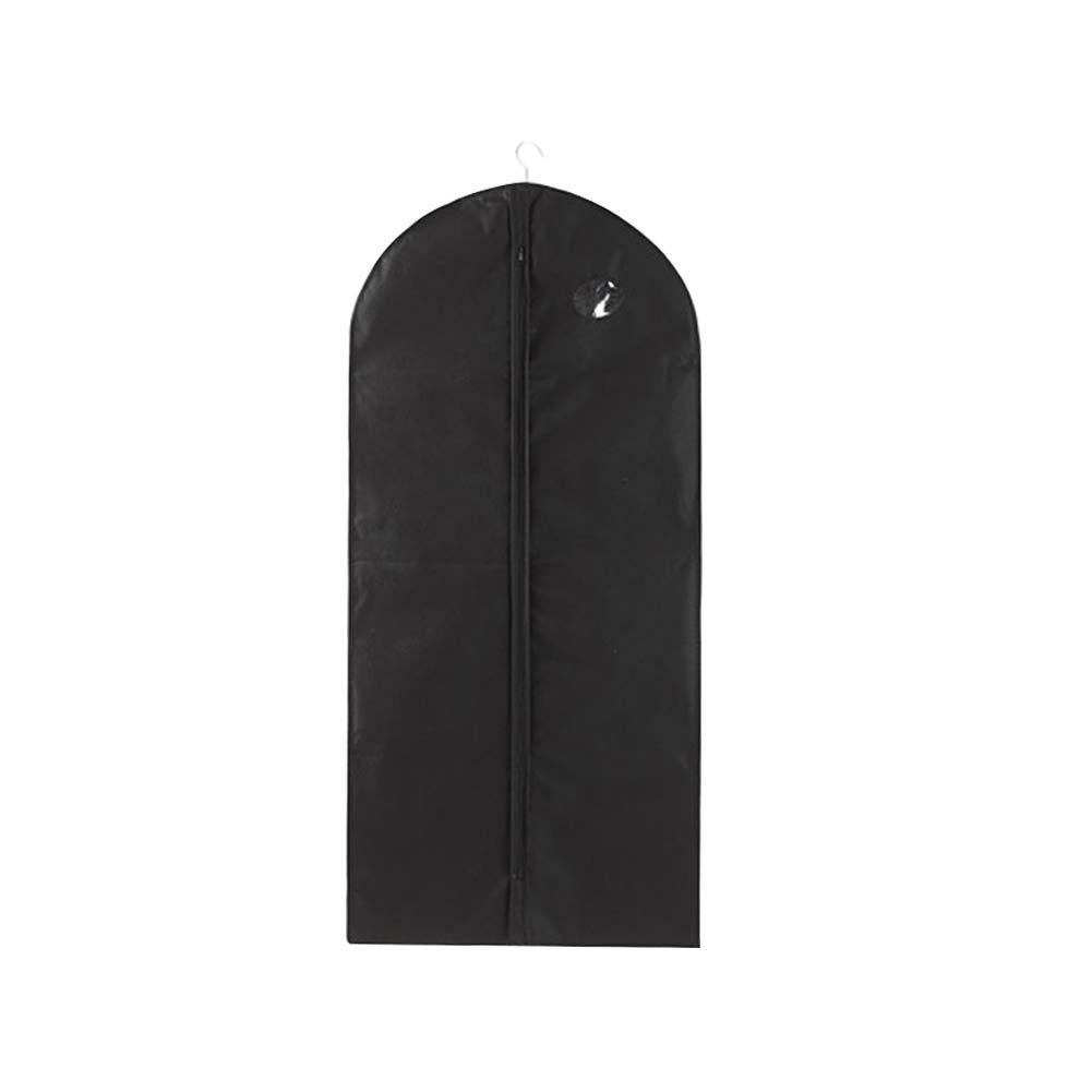 GlobalDeal Clothes Garment Suit Dress Dust Cover Travel Coat Hanging Storage Bag Protector - Black 128cm x 60cm