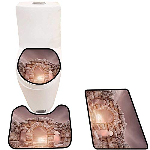 - Toilet Carpet Floor mat Ruins of Ancient Temple in Turkey,Adana Non-Slip Soft Absorbent Bath Rug