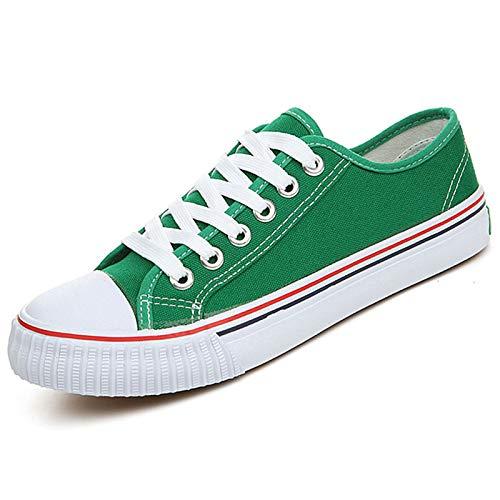 Sneakers verde Piatto Donna Comfort Rosso Zhznvx autunno Da Primavera Tacco Black Blu Pu Scarpe poliuretano qU8n7SU