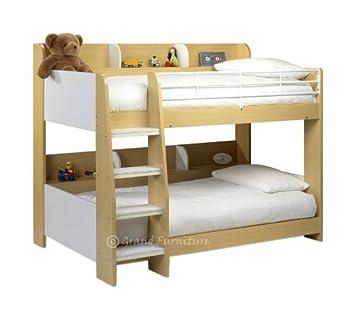 NEU Durham Zeitgenössische Kinder weiß Ahorn Holz Etagenbett Rahmen ...
