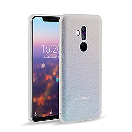 Kugi Funda UMIDIG Z2, Hard PC Protectora Case Protective Case Carcasa del Teléfono para UMIDIG Z2(Blanco)