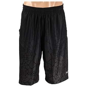 Nike Mens Lebron Tamed Allover-Print Basketball Shorts Anthracite/Black/Wolf Grey 620676-010 Size Medium