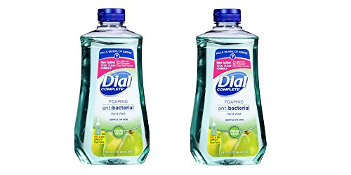 Dial Foaming Soap Refill, Complete Anti-bacteria Fresh Pear Hand Wash, 32 Oz (2 Bottle)