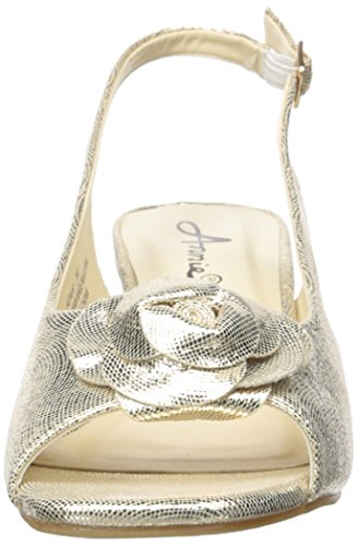 Annie Schoenen Dames Adair Espadrille Sleehak Naturel