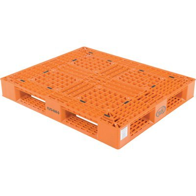 Vestil Plastic Pallet - 6,600-Lb. Capacity, 40in L x 48in. W, Model# PLP2-4840-ORANGE