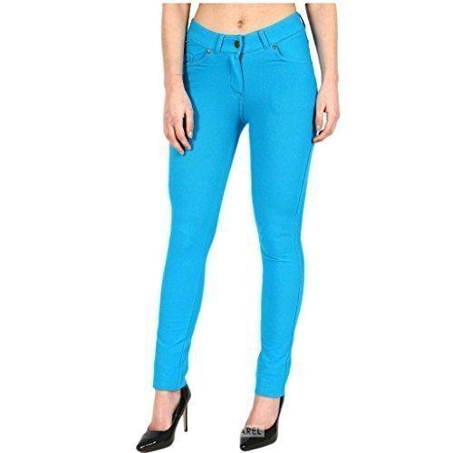 coupe grande fermeture jeggings habill pantalon Femmes color disponible 18 Curvy skinny clair 26 Turquoise uni slim lastique taille couleurs 8 FASHIONCHIC wFpqC