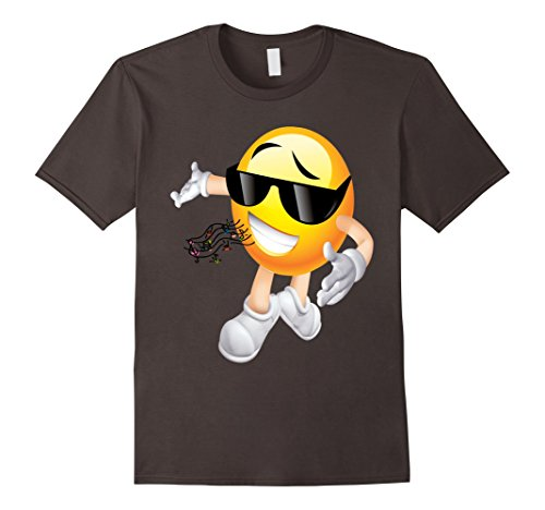 Mens MC DJ Emoticon T Shirt 5 Large Asphalt (Pitch Perfect Costume Ideas)